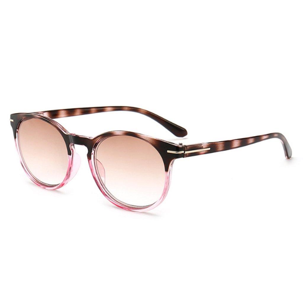 Lergo Unisex Round Reading Glasses Clear Lens Flexible Glasses 1.0 to 4.0