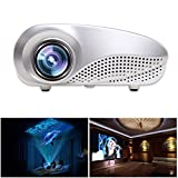 Mini LED Projector Home Multimedia Home Theater Cinema Video Projector Portable LCD LED Projector HD Support 1080P HDMI USB SD Card VGA AV For Home Theater Cinema Video Games