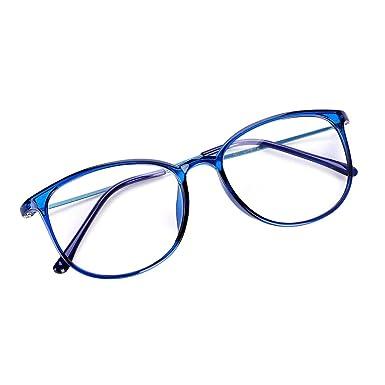 Unisex Lunette à Monture Ovale Rétro Léger Mode Transparent en Acier  Plastique lunette de Soleil Voyage 27a1b3e68bce