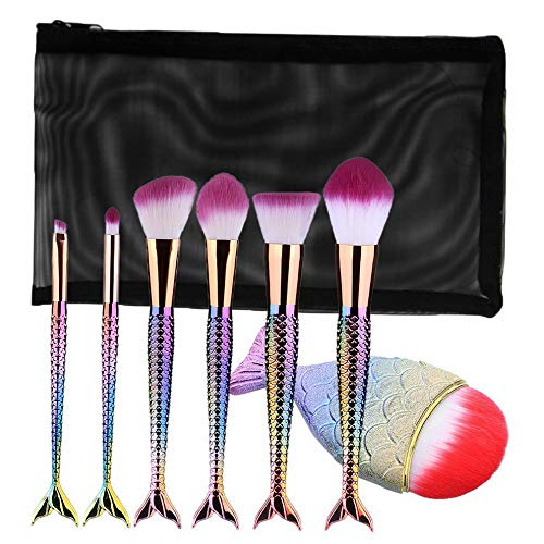 - Kaputar Fish Scale Make Up Foundation Eyebrow Eyeliner Blush Cosmetic Concealer Brushes | Model MKPBRSH - 2509 |