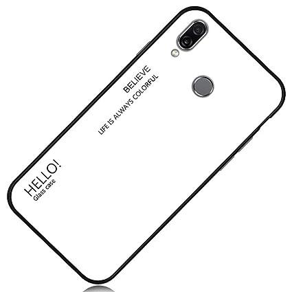 Amazon.com: Yoodi Huawei P Smart (2019), carcasa de cristal ...