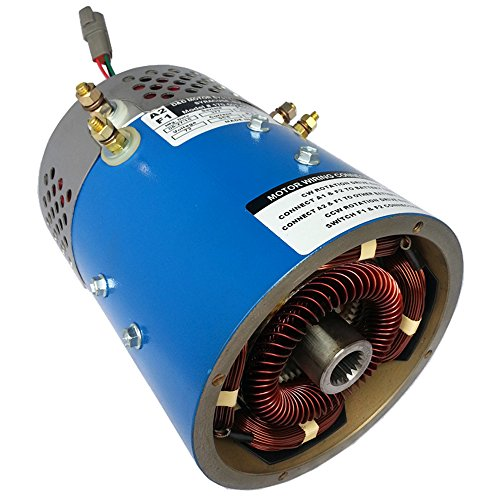 GEM Electric Car Parts - GEM Car Motor for Torque & Speed - 25 mph @ 72V - 20 HP Peak - High Performance & Made In USA with More Copper & Steel thus Less Likely to burn up! (Red Option) by D&D Motor Systems