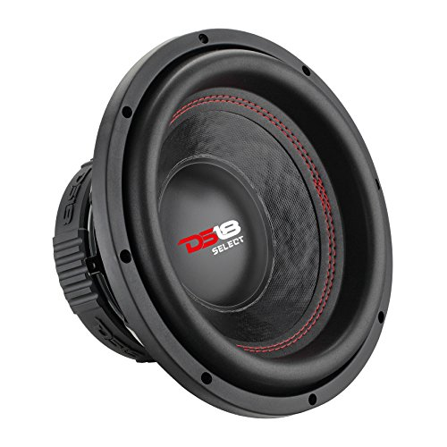 DS18 SLC8S Car Subwoofer Audio Speaker – 8″ in. Paper Glass Fiber Cone, Black Steel Basket, Single Voice Coil 4 Ohm Impedance, 400W MAX Power and Foam Surround for Vehicle Stereo Sound System