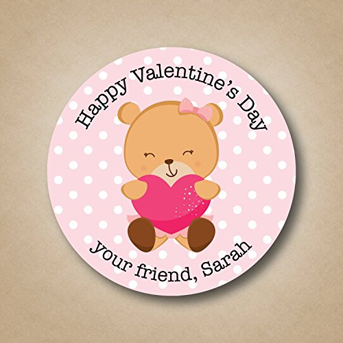 Pink Cocoa Dot (Pink Bear - Valentine's Day Stickers)
