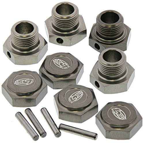 Losi LST 3XL-E 4WD 1/8: 17mm Capped Wheel Nuts & Hex Hub Adapters, Pins -