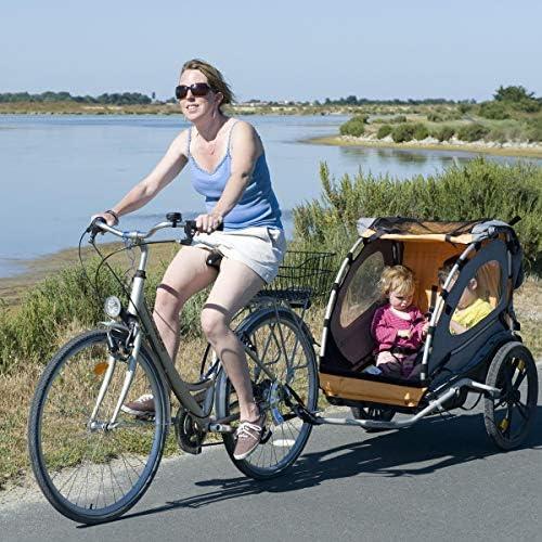Qomolo Enganche de Remolque para Bicicletas, Enganche de Trailer Infantil de Bicicleta Acoplador Adjunto Accesorio ...