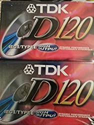 Tdk D120 High Output Ieci Type I Normal Position Audio Cassettes (2 Pack)