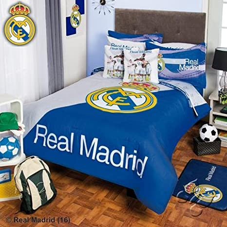 Amazon.com: Real Madrid Comforter y cortinas Set, Algodón ...