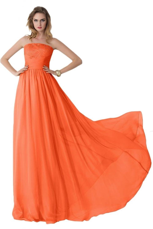 Sunvary Strapless Chiffon Bridesmaid Prom Dresses A Line Custom Made