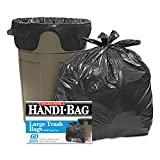 Handi-Bag Super Value Pack Trash Bags, 30gal.65mil, 30 x 33, Black, 60/Box