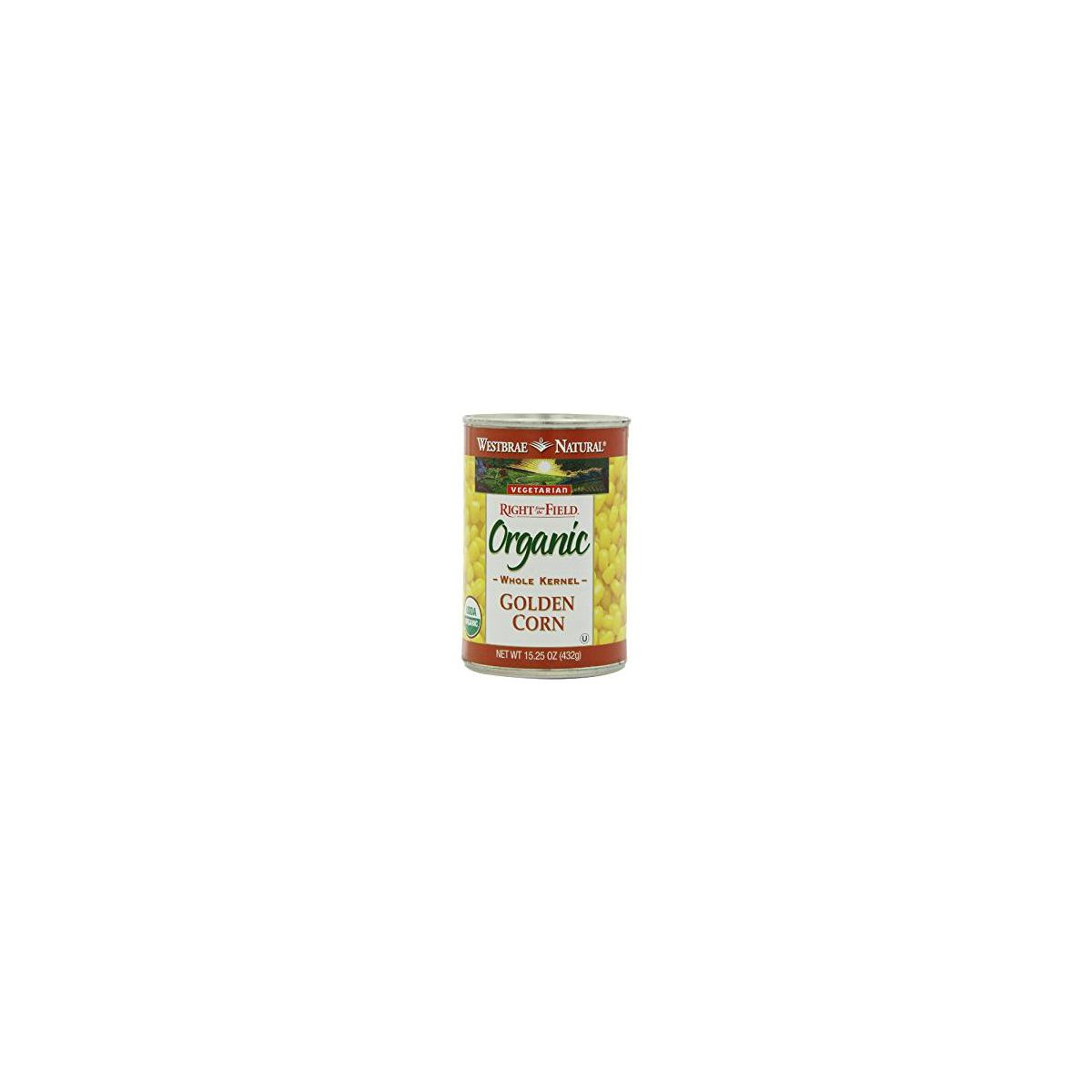 Westbrae Foods, Golden Corn; Made With Organic Ingredients, Pack of 12, Size - 15.25 OZ, Quantity - 1 Case