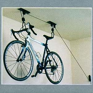 ceiling mounted bike rack bicycle hanger. Black Bedroom Furniture Sets. Home Design Ideas