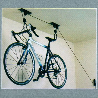 Amazon.com : Ceiling Mounted Bike Rack Bicycle Hanger Garage Rack (with  Pully Lifting and Lowering System) : Other Products : Everything Else