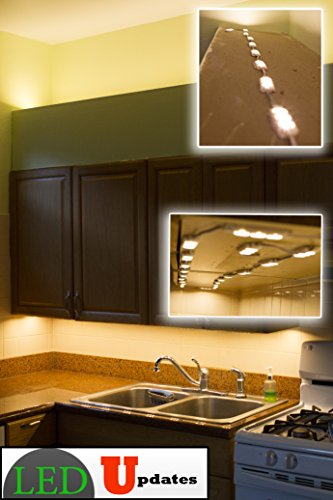 40ft Kitchen under cabinet LED Light 80 pieces warm white 5630 module with UL 12v AC Power package