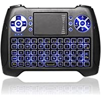 Mini Wireless Touchpad Rechargable Keyboard,Wireless Backlit Keyboard,ANEWKODI 2.4Ghz Handheld Gaming Remote Control with Mouse for Xbox,PC,Pad,Android TV Box,HTPC,IPTV.