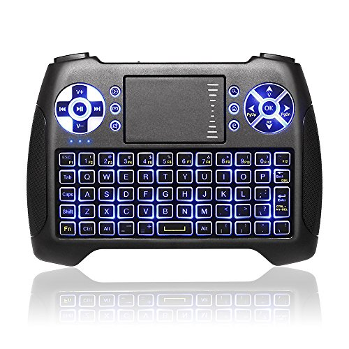 Mini Wireless Touchpad Rechargable Keyboard,Wireless Backlit Keyboard,ANEWKODI 2.4Ghz Handheld Gaming Remote Control with Mouse for Xbox,PS3,PS4,PC,Pad,Android TV Box,HTPC,IPTV.