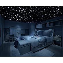 Realistic Glow in the Dark Stars - 600 Stars! - 3D Domed Dots, Long Lasting, Self-Adhesive Stars - Create an Unbelievable Starry Sky for your Child or a Romantic Night Sky