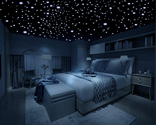 Realistic Glow in the Dark Stars – 600 Stars! – 3D Domed Stars, Long Lasting, Self-Adhesive Stars – Create an Unbelievable Starry Sky for your Child or a Romantic Night Sky