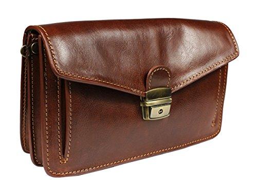 Attractive practical leather Leder briefcase Fedro Marrone