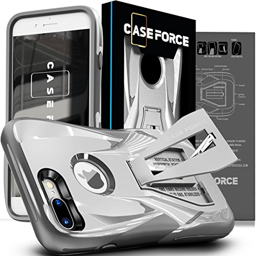 CASE FORCE Cell Phone Case Compatible with iPhone 8 Plus / 7 Plus [Velocity Series] Best Ultimate for Girls Women Men, Kickstand Heavy Duty Military Grade Drop Protection Custom Design Cover