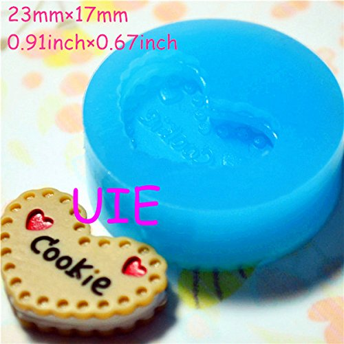(043LBQ Heart Shaped Silicone Flexible Push Mold - Jewelry, Charms, Cupcake (Clay Fimo Casting Resins Epoxy Wax Soap Fondant))