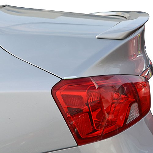 (Dawn Enterprises IMP14-FM Factory Style Flush Mount Spoiler Compatible with Chevrolet Impala - Silver ICE Metallic WA636R (GAN))
