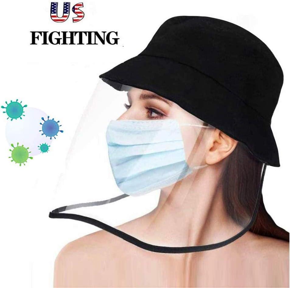 Tapa protectora Escudo de protección for la cara Pesca cara sombrero del cubo del sombrero de Sun completo for hombres y mujeres, anti-niebla, anti-polvo, anti-saliva, a prueba de viento a prueba de p