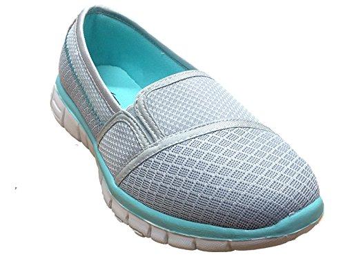 Go Get Sport Gym Sport Women's Shoes Trainers Grey Walk Turquoise Athletic Walking Shoes Dek Fit fwCxq5