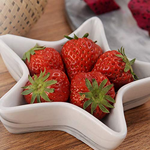 Bestdoll Ceramic Bowl High Temperature Resistant Fruits Plate Marble Texture Tableware