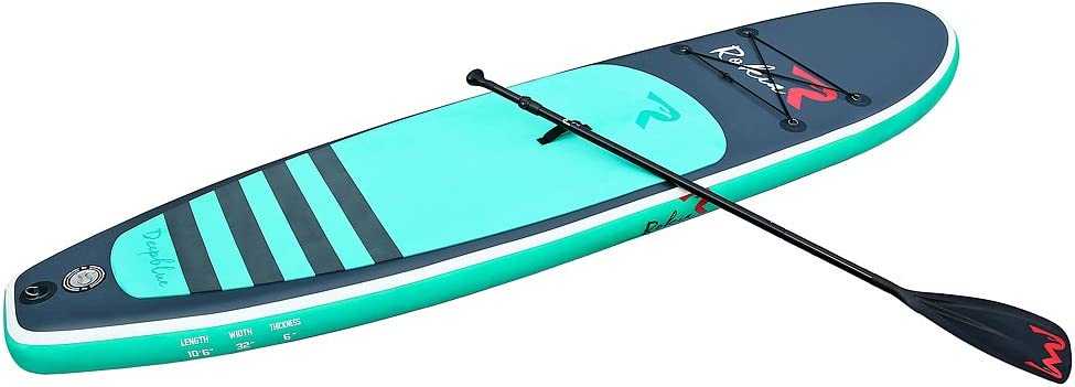 Rokia R 10.6 Feet Inflatable SUP Stand Up Paddle Board (6 Inches Thick) iSUP for Fitness, Yoga, Fishing on Flat Water