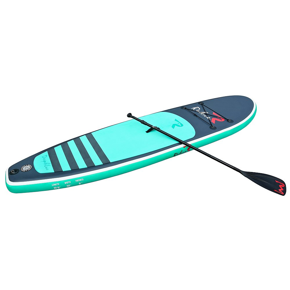Rokia R 10'6'' Inflatable SUP Stand Up Paddle Board (6'' Thick) iSUP for Fitness, Yoga, Fishing on Flat Water, Blue by Rokia R (Image #1)