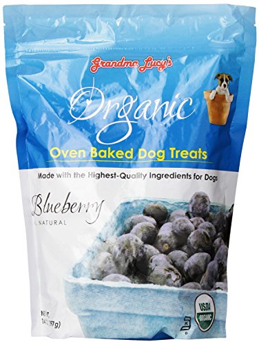 (3 Pack) Grandma Lucy's Organic Oven Baked Blueberry Dog Treats, 14 Ounces each
