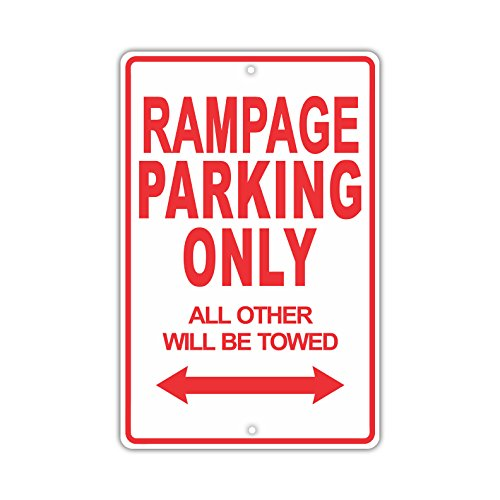 "DODGE RAMPAGE Parking Only All Others Will Be Towed Ridiculous Funny Novelty Garage Aluminum 8""x12"" Sign Plate"