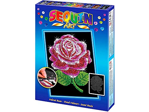 (Sequin Art Blue, Red Rose, Sparkling Arts and Crafts Picture Kit, Creative)