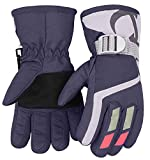 7-Mi Kids Winter Warm Water-Resistant Gloves For Skiing/Snowboarding/Cycling/Riding Outdoor Activities Children Mittens Best For 3 To 6 Years Old Purple