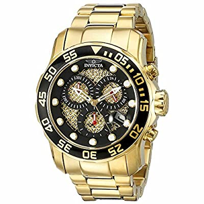 Invicta Men's 19837SYB Pro Diver 18k Gold Ion-Plated Stainless Steel Watch by Invicta