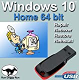 Image of Windows 10 Home 64-Bit Install | Boot | Recovery | Restore USB Flash Drive Disk Perfect for Install or Reinstall of Windows