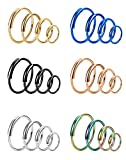 Udalyn 24 Pcs 20G Nose Ring Stainless Steel Septum Piercing Tragus Cartilage Earrings for Women Men