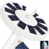 Yakalla New Generation 48 LED Three-Grade Adjustment Solar Flag Pole Light IP67 Waterproof Lighting for Most 15 to 25 Ft Flagpoles to Dusk to Dawn Auto On/Off Night