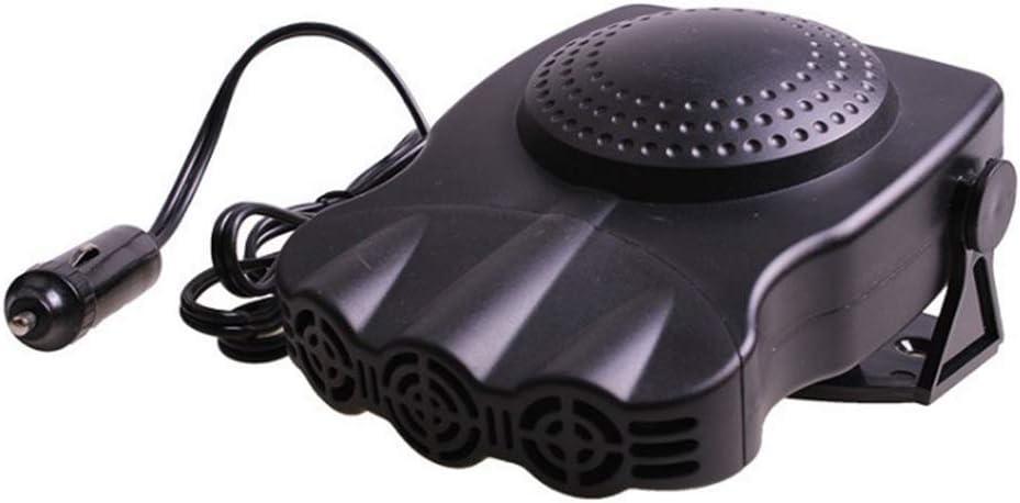 XQINCAI Car Heater Defogger Fan, Fast Heating Defrost Defogger, Cooling Car Fan, 2 in 1 Heating/Cooling Function, Plug in Cigarette Lighter,12V 150W Car Heater, (Black)