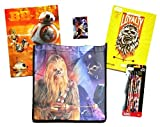 10 item LIMITED Disney Star Wars Bundle Exclusive [Chewbacca Loyalty Coloring Book, Droid Pocket Folder, 6 Rey Pencils, Empire Crayons & Recyclable Tote bag (Chewbacca & Bowcaster, NEW REPUBLIC)]