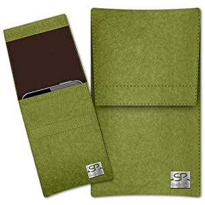 SIMON PIKE Cáscara Funda de móvil Sidney 2 verde Samsung Galaxy Pocket 2 Fieltro de lana