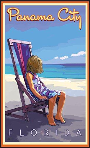 Northwest Art Mall JK-5752 GBC Panama City Florida Girl Beach Chair Print by Artist Joanne Kollman, 11