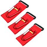 uxcell 44lb Capacity Adjustable Hook Loop Hanging Hanger Clip Red 3pcs