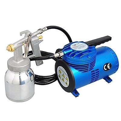 Voilamart Diaphragm Airbrush Compressor with Spray Gun High Performance Air Compressor 1.3mm Kit for Decoration Art Paint