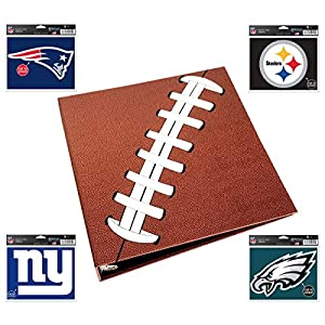 Pigskinz 3-Ring Football Card Binder | Looks and Feels Like a Real Football | Premium Embossed Paper Football Card Album…