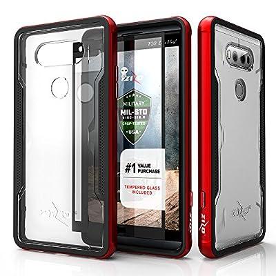 LG V20 Case, Zizo [Shock Series] w/ FREE [LG V20 Screen Protector] Transparent Clear [Military Grade Drop Tested] Aluminum Metal Bumper for LG V20