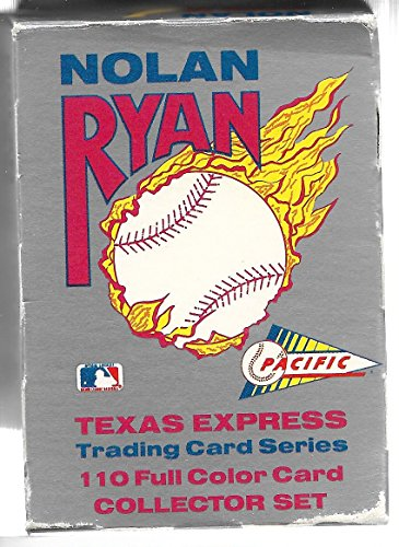 1991 Pacific Trading Cards Nolan Ryan Texas Express Complete 110 Card Set In -
