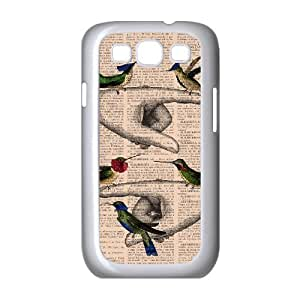 HEHEDE Phone Case Of News Paper Background Painting Pattern For Samsung Galaxy S3 I9300