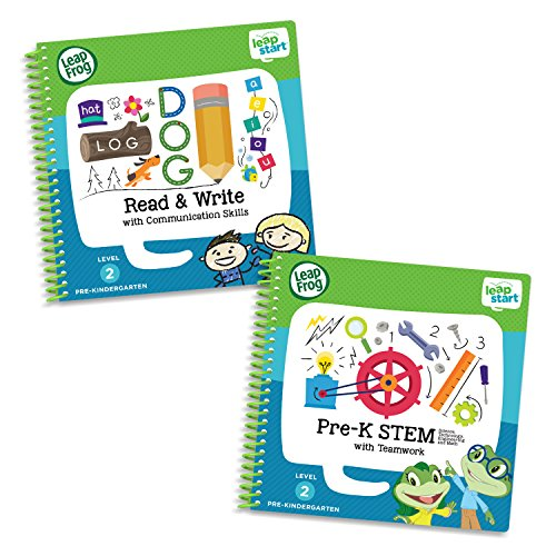LeapFrog LeapStart Pre-Kindergarten Activity Book Bundle with Read and Write, Pre-K STEM, Level 2 ()